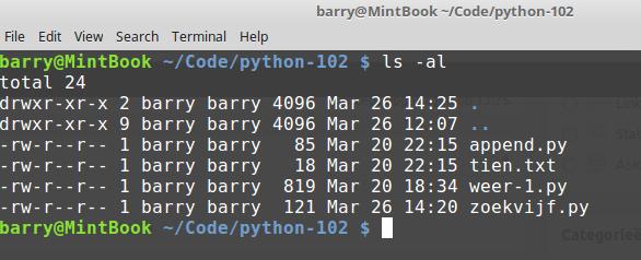 Python 102: Bestanden lezen en schrijven