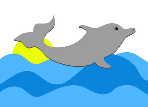 De Dolfijn met Illustrator
