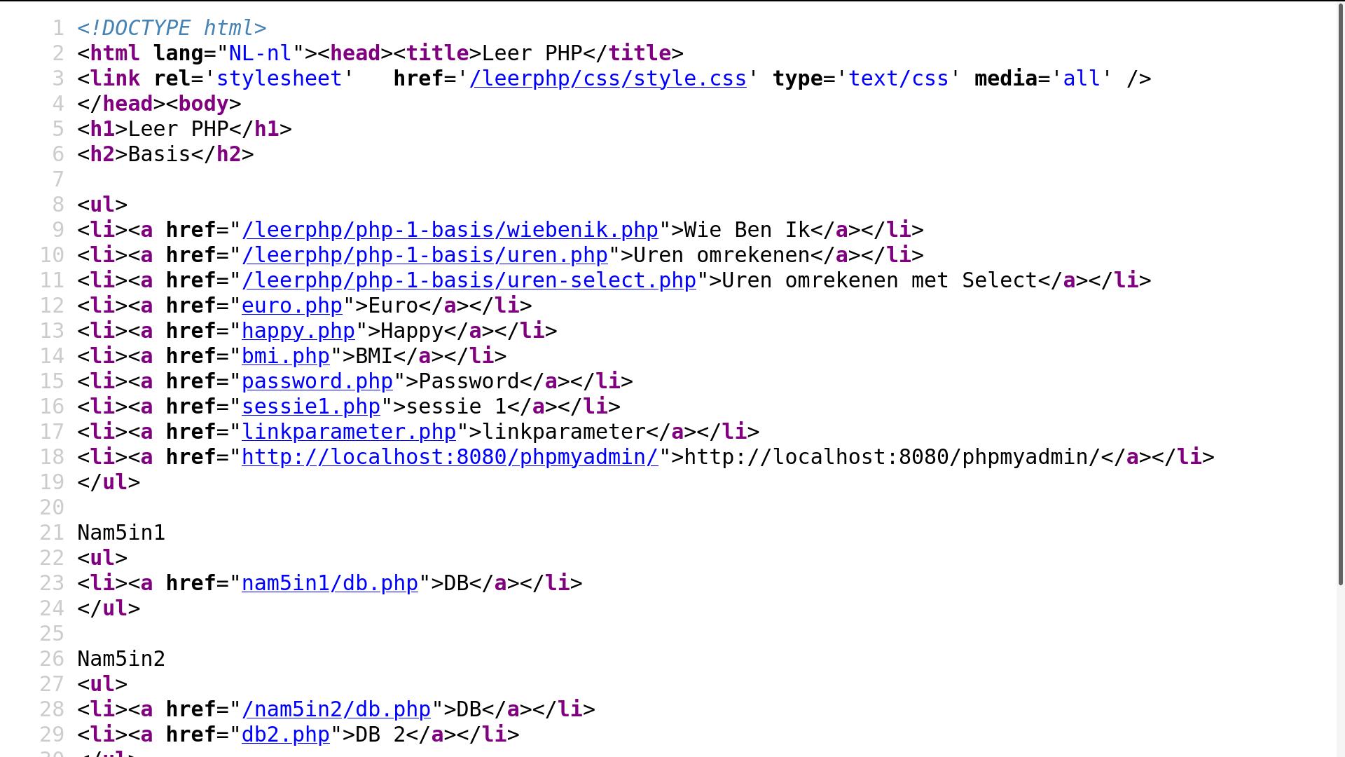 Basis HTML Code