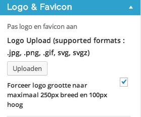 Maak je logo 250px x 100 px.