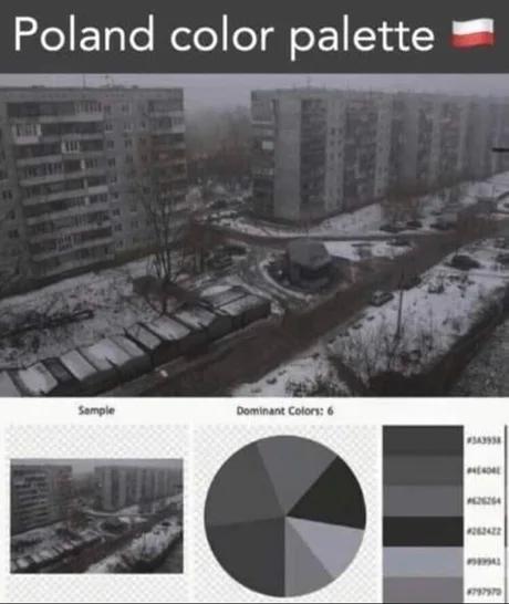 Poland color palette