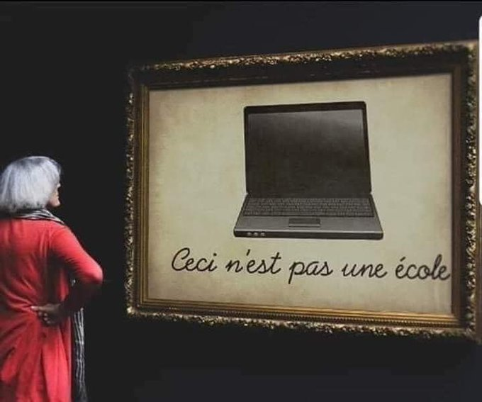 This is not a school, Rene Magritte